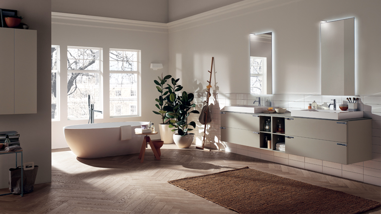 Is parquet a wise choice for the kitchen and bathroom - Parquet teak bagno ...